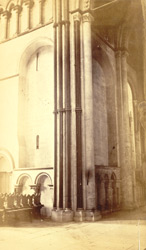 Angle Of The South Transept, Shewing Two Periods Of Construction And The Lengthening Of The Shafts, AD 1130 And AD 1178